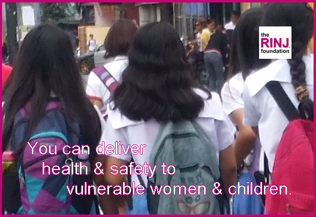 You can deliver safety to women and children.