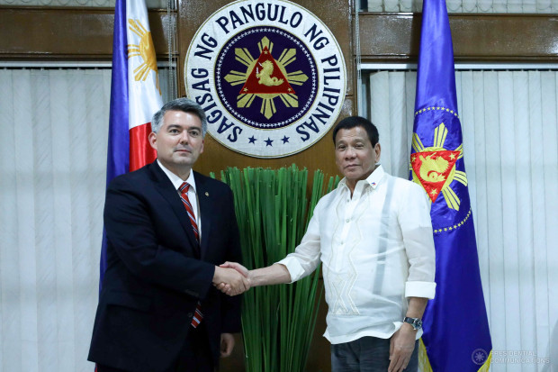 Us Senator Cory Gardner (R) with Despot Rodrigo Duterte