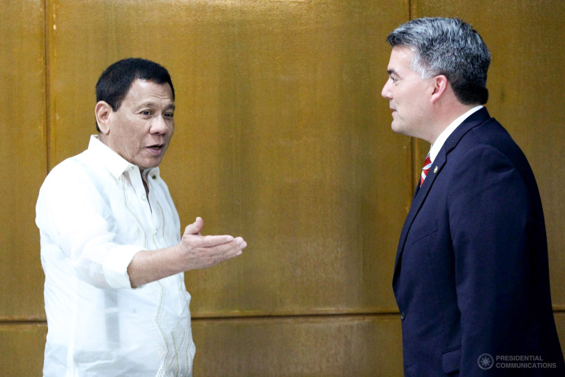 US Republican Senator on May 31 with Duterte